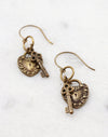 Cherished Key Earrings, (1 pair)