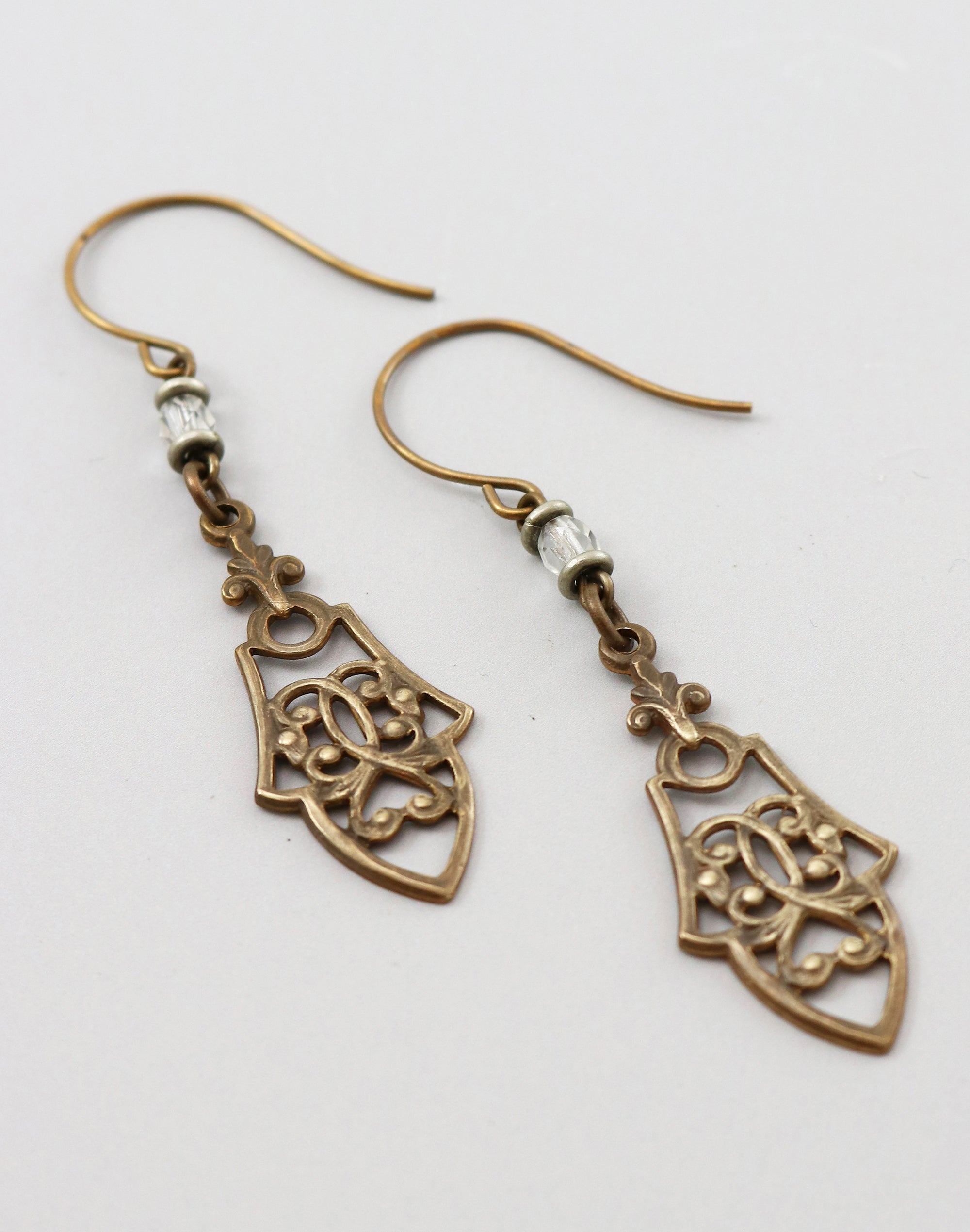Cathedral Navette Earrings, (1 pair)