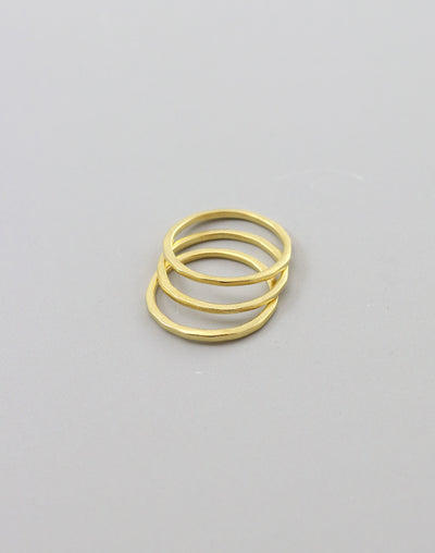 Hammered Ring, Size 8, (3pcs)