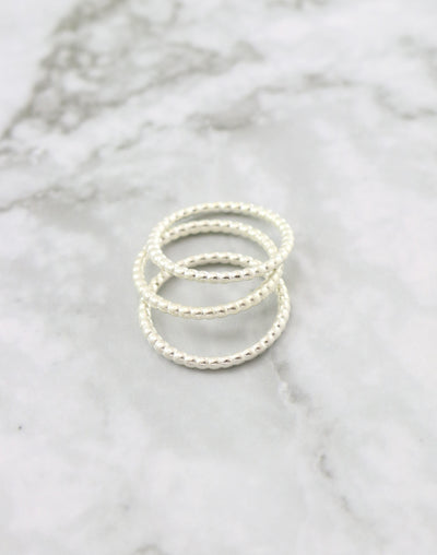 Beaded Ring, Size 8, (3pcs)