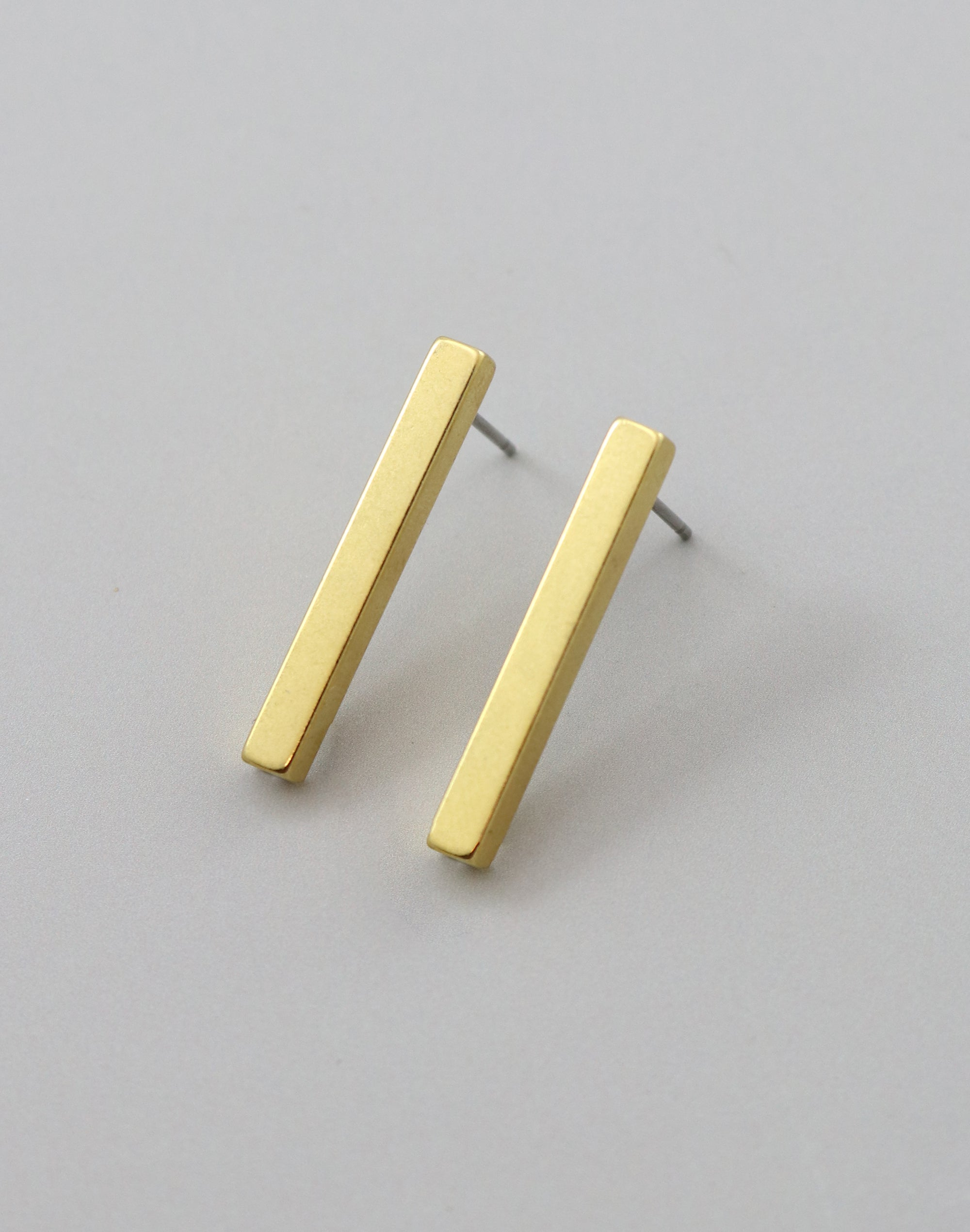 Bar Post Earring, 25x3mm, (1 pair)