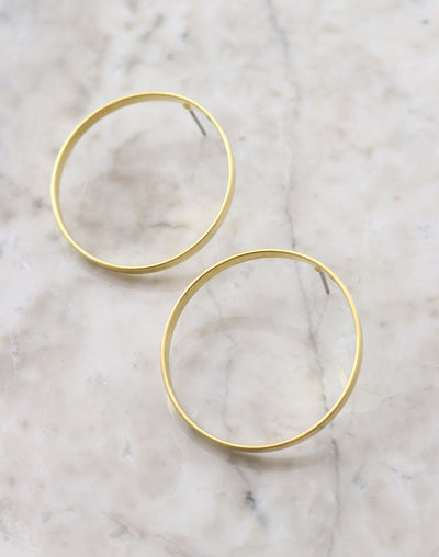 Circle Post Earring, 32mm, (1 pair)