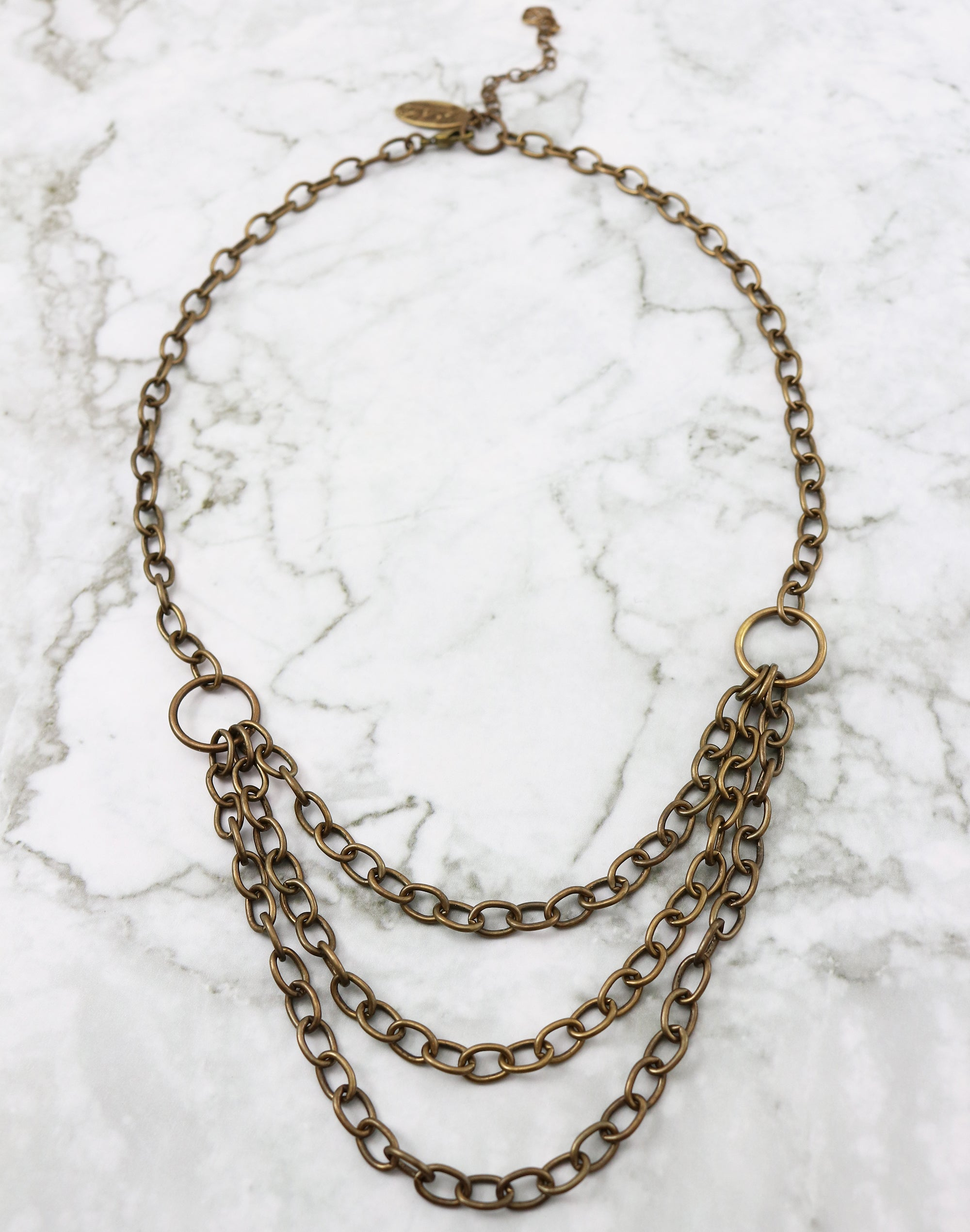 "Layers Necklace, 18"" w/ 2.5"" Extender, (1pc)"