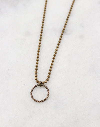 Roped Ball Necklace, (1pc)