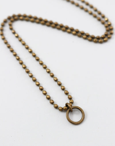 Faceted Ring Necklace, (1pc)
