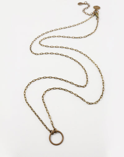 Ringed Cable Necklace, (1pc)