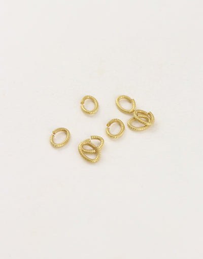 Rib Oval Jump Ring, 8.25x6mm, 16ga, (8pcs)