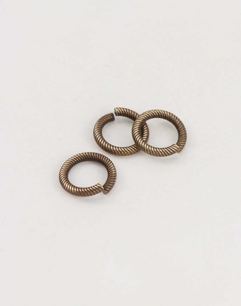 Coiled Cable Jump Ring, 14.5mm, 11ga, (3pcs)