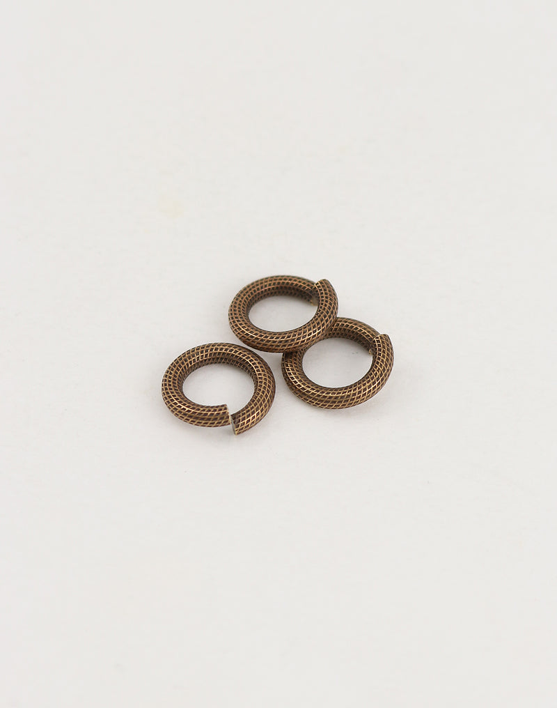 Roped Jump Ring, 12.25mm, 11ga, (3pcs)