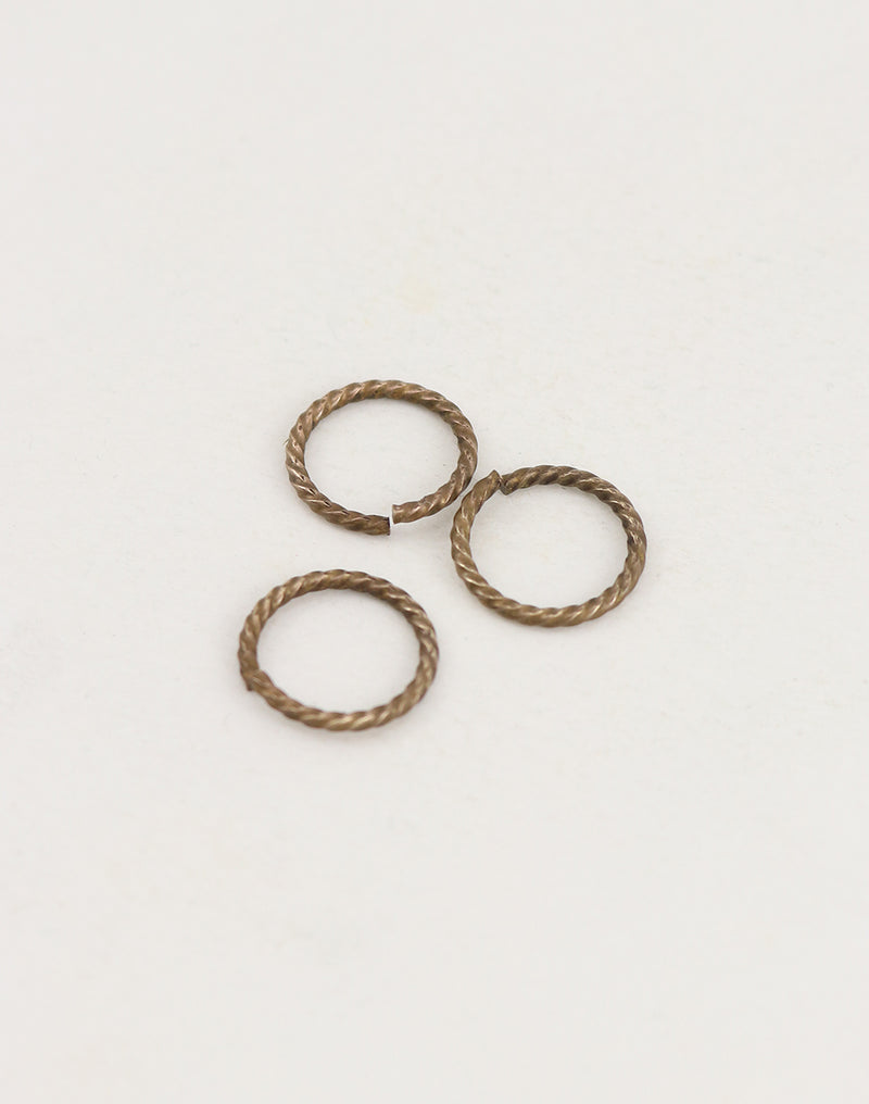 Roped Jump Ring, 14.5mm, 13ga, (3pcs)