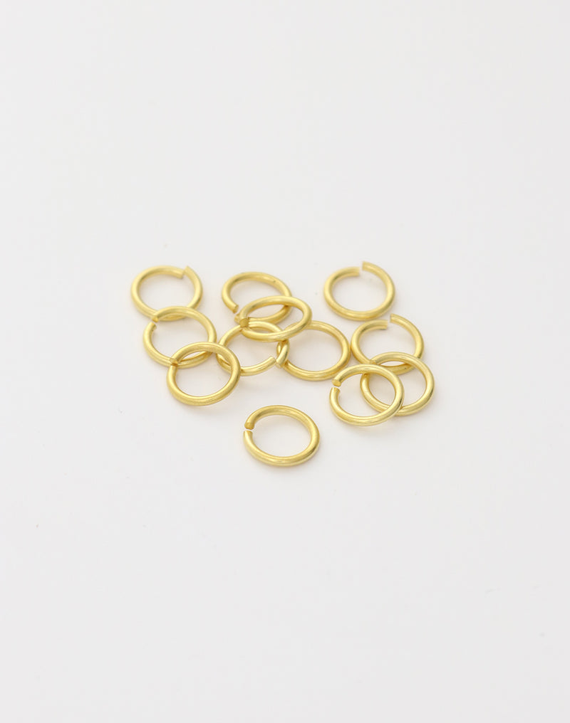 Smooth Jump Ring, 8mm, 18ga, (16pcs)