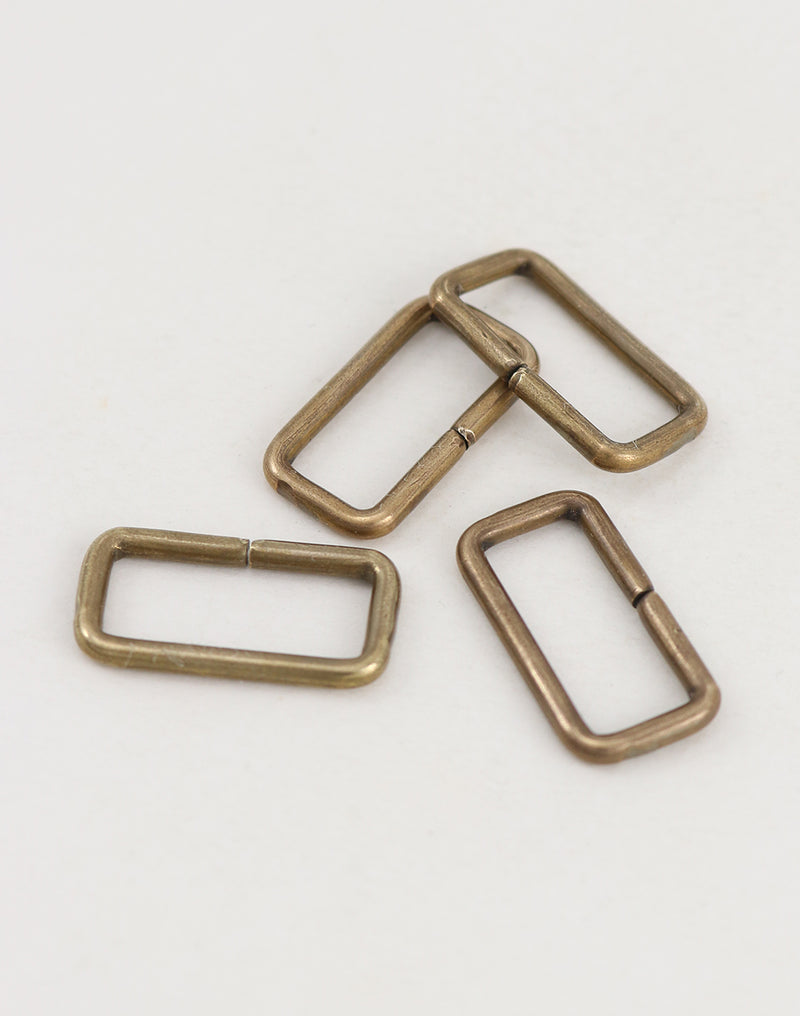 Rectangle Jump Ring, 24 x 12.5mm, 11ga, (4pcs)