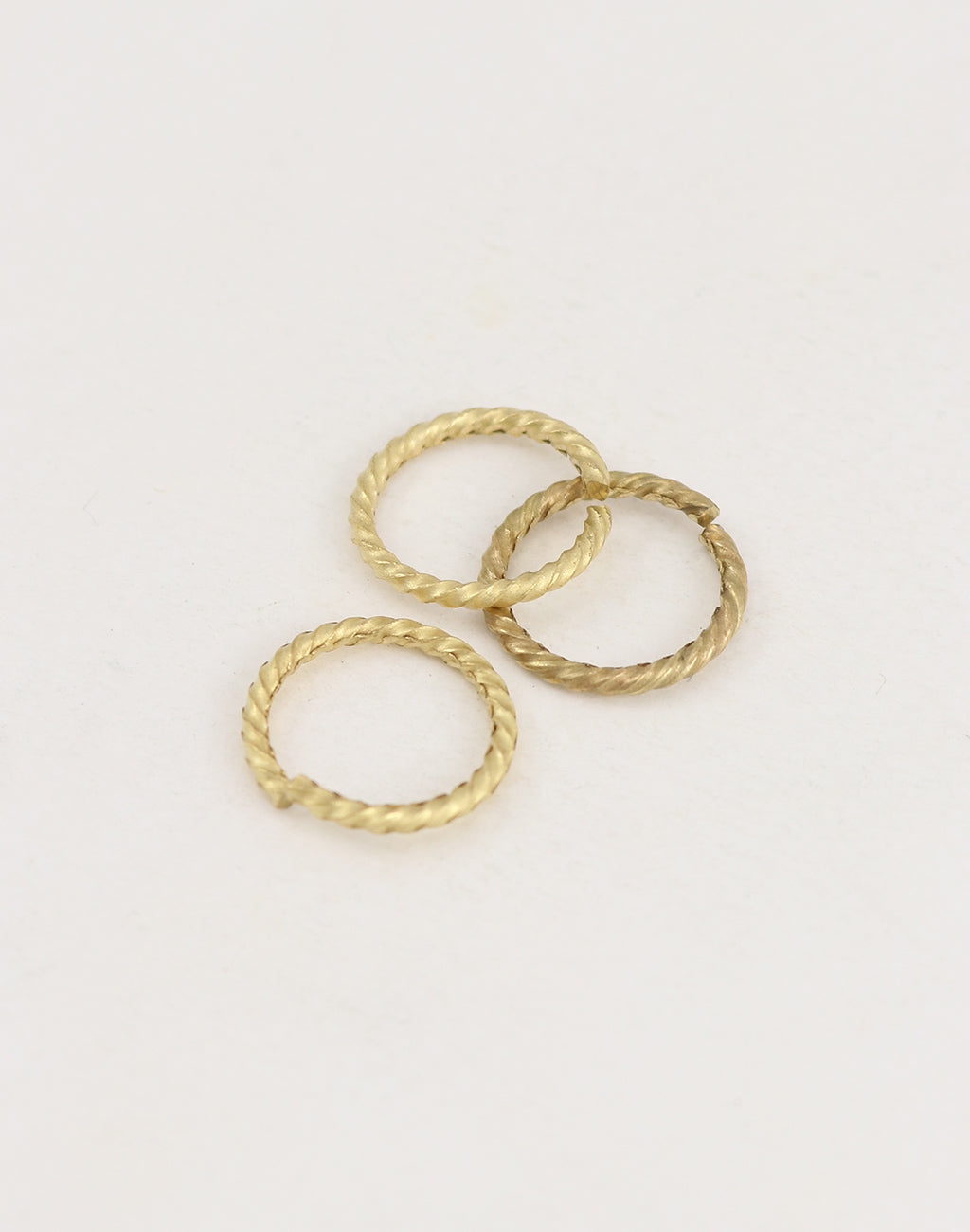 Roped Jump Ring, 17mm, 13ga, (3pcs)