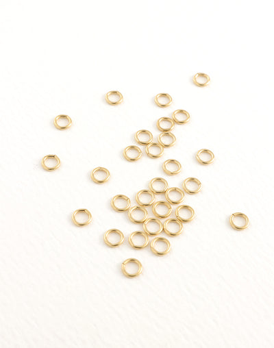 Smooth Jump Ring, 4.25mm, 21ga, (30pcs)