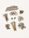 Natural Brass Basics Findings Kit
