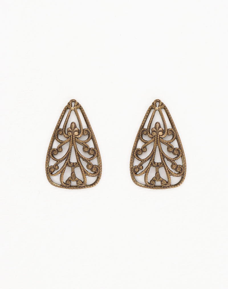 Filigree Décor, 37x21mm, (2pcs)