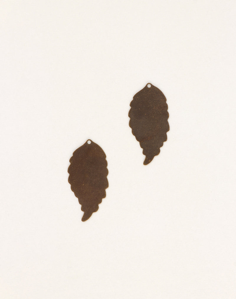 Ambrosia Leaf, 30x14.5mm, (2pcs)