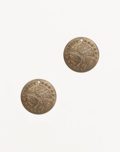 Liberty Coin, 19.5mm, (2pcs)