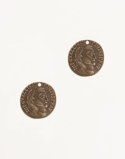 Roman Laurel Coin, 20mm, (2pcs)