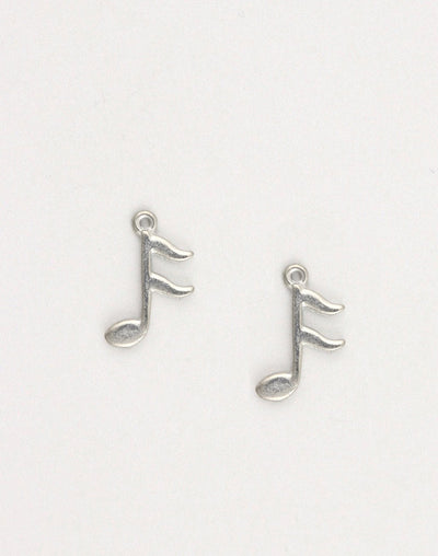 Music Note, 21x14mm, (2pcs)