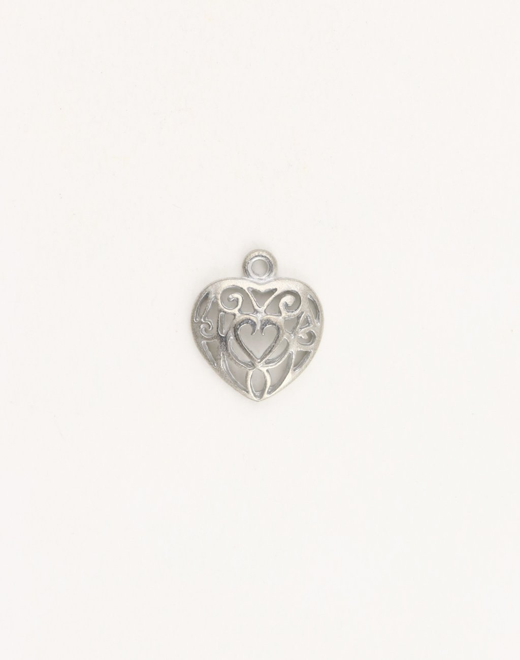Filigree Heart, 19x17mm, (1pc)