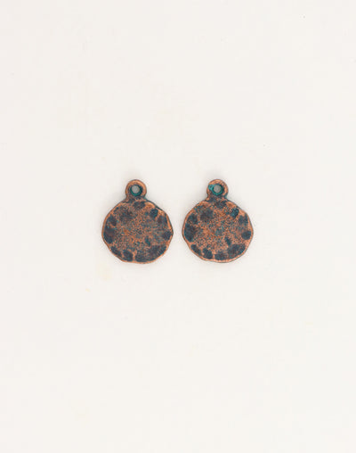 Hammered Circle, 14mm, (2pcs)