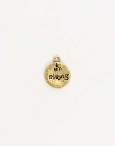 I Am Strong, 19x15mm,  (1pc)