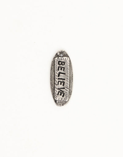 Believe Tag, 30x12mm, (1pc)
