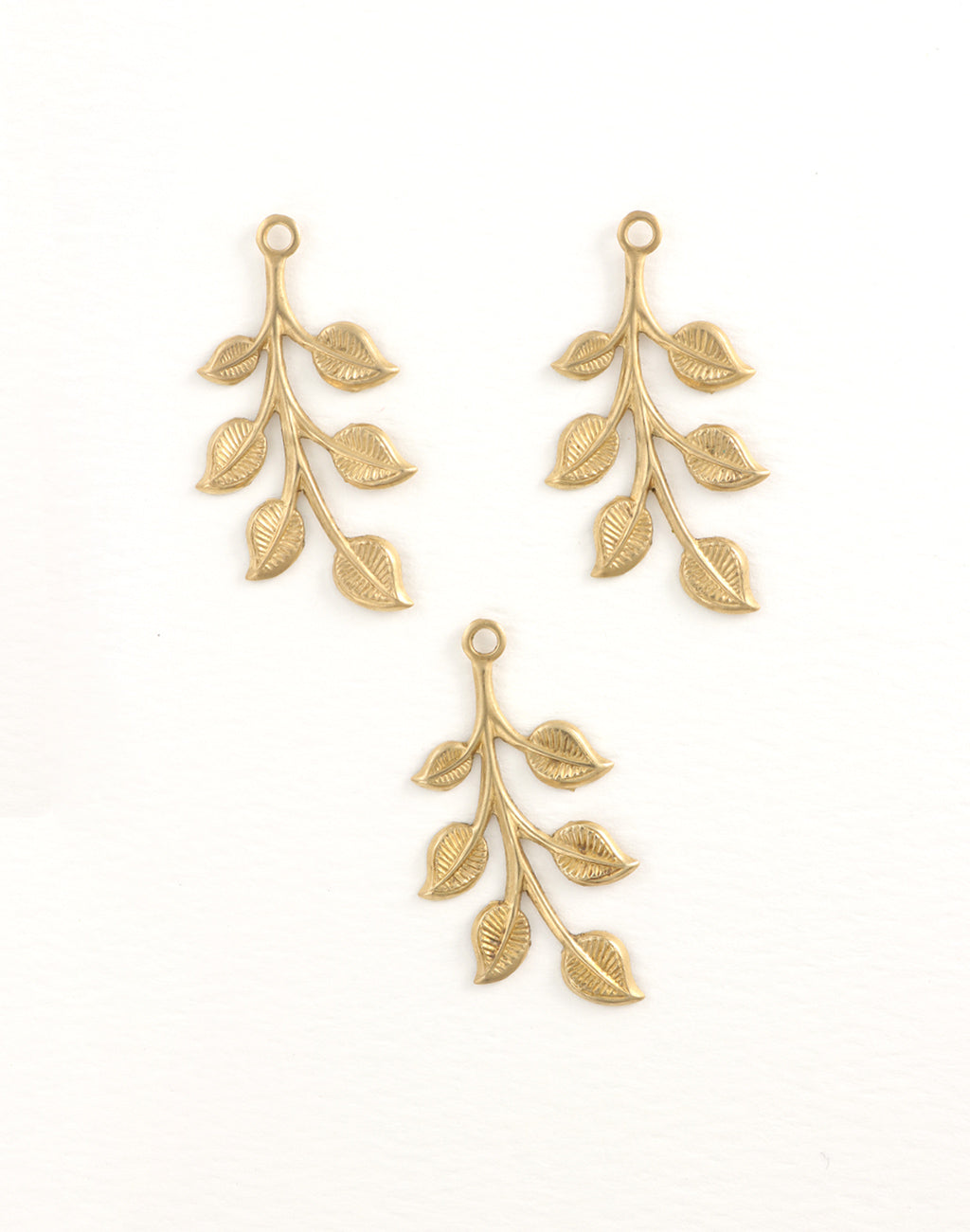 Spring Leaves, 37x18mm, (3pcs)