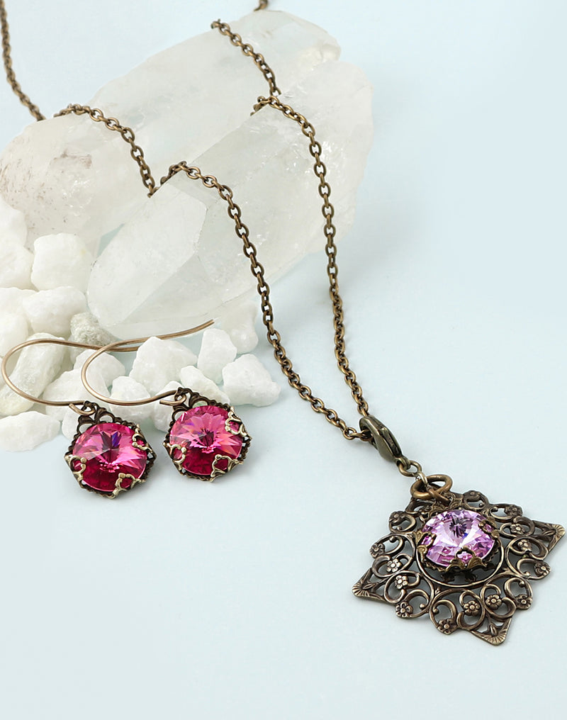 Fine Revelation Necklace & Earrings Interchangeable Set