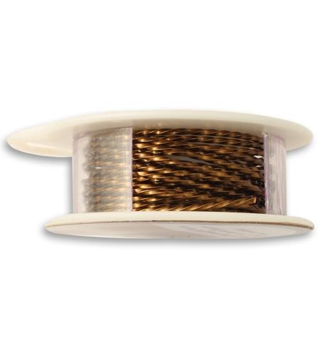 Vintaj Natural Brass Twisted Wire, 18 GA, (8 ft)
