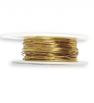 Solid Brass Wire, 22 GA, (60 ft)