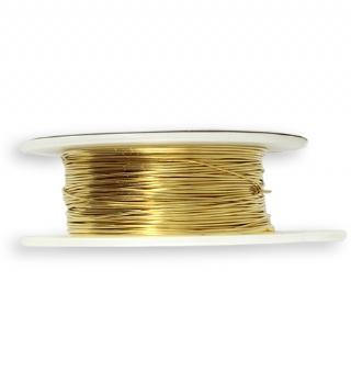 Solid Brass Wire, 24 GA, (90 ft)