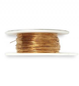 Solid Brass Wire, 26 GA, (120 ft)