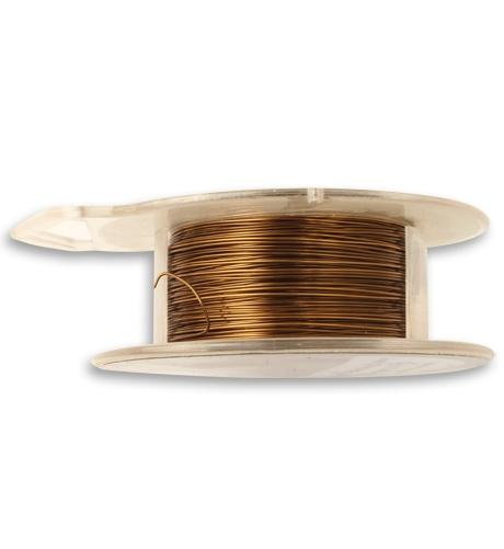 Natural Brass Wire, 26 GA, (120 ft)