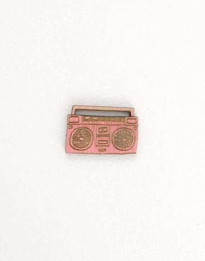 Wood Boombox, 29x20mm, (1pc)