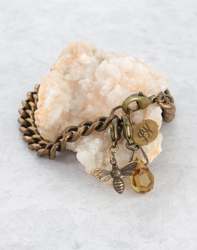 Amber Messenger Bee Bracelet Interchangeable Set