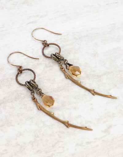 Roped Willow Branch Earring Interchangeable Set
