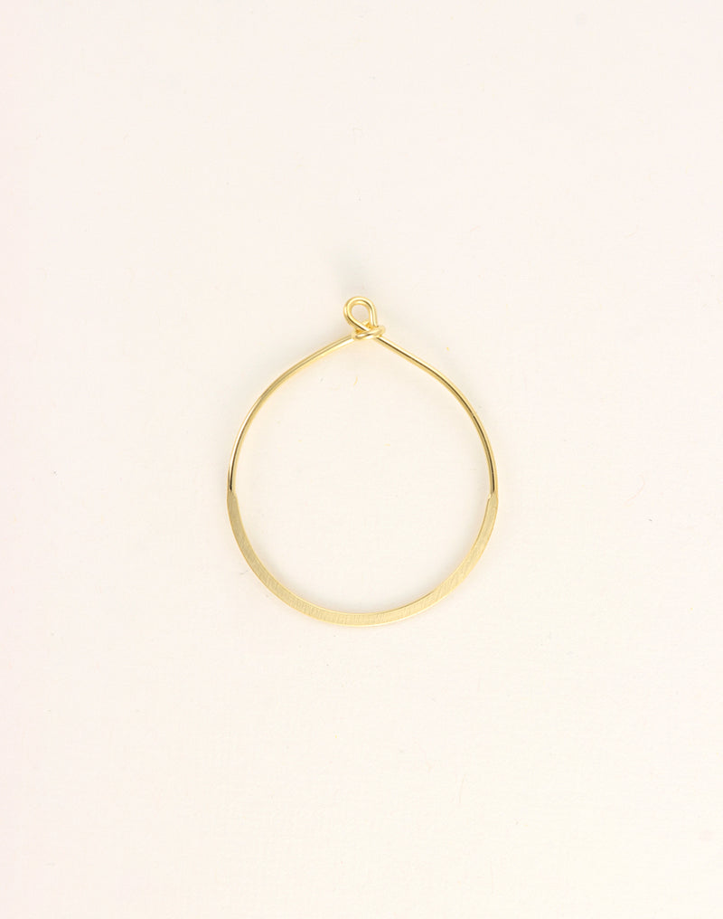 Flattened Hoop, 38x32mm, (1pc)