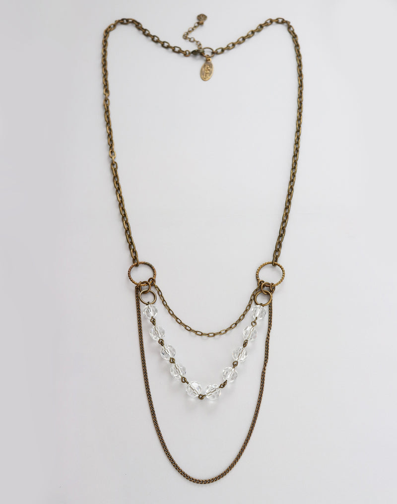 "Chandelier Necklace, 28"" w/ 2.5"" Extender, (1pc)"