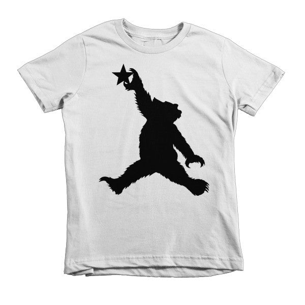 Cali Bear (black) short sleeve kids t-shirt
