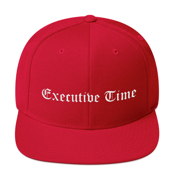 Executive Time Snapback Hat (Script font)