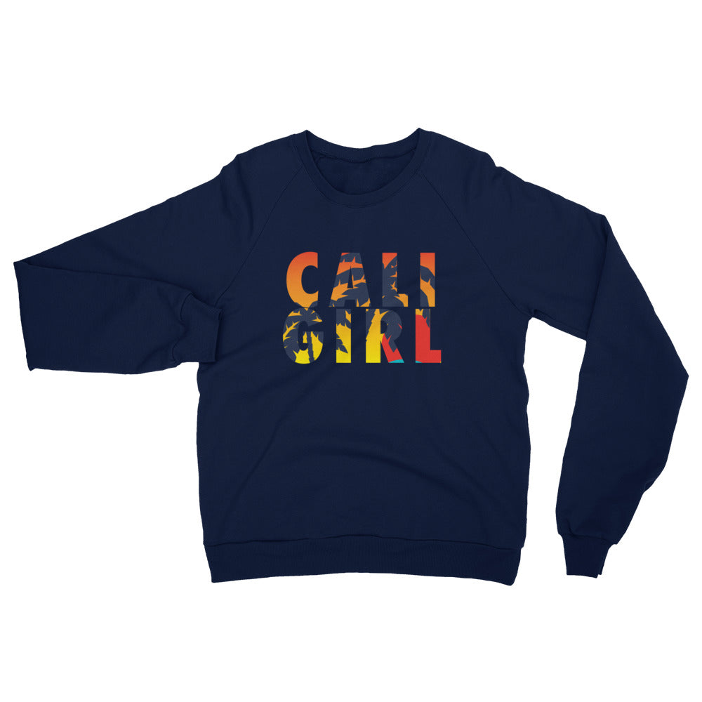 Cali Girl Sunset Unisex California Fleece Raglan Sweatshirt
