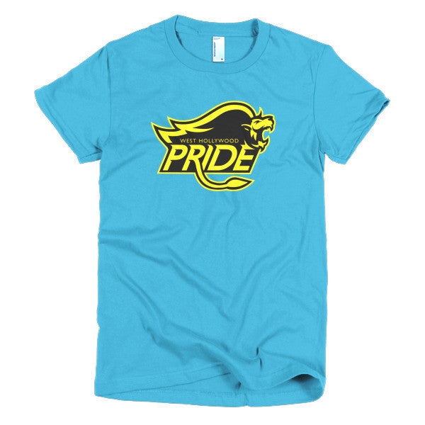 West Hollywood Pride (Black/yellow) short sleeve women's t-shirt (two of two)