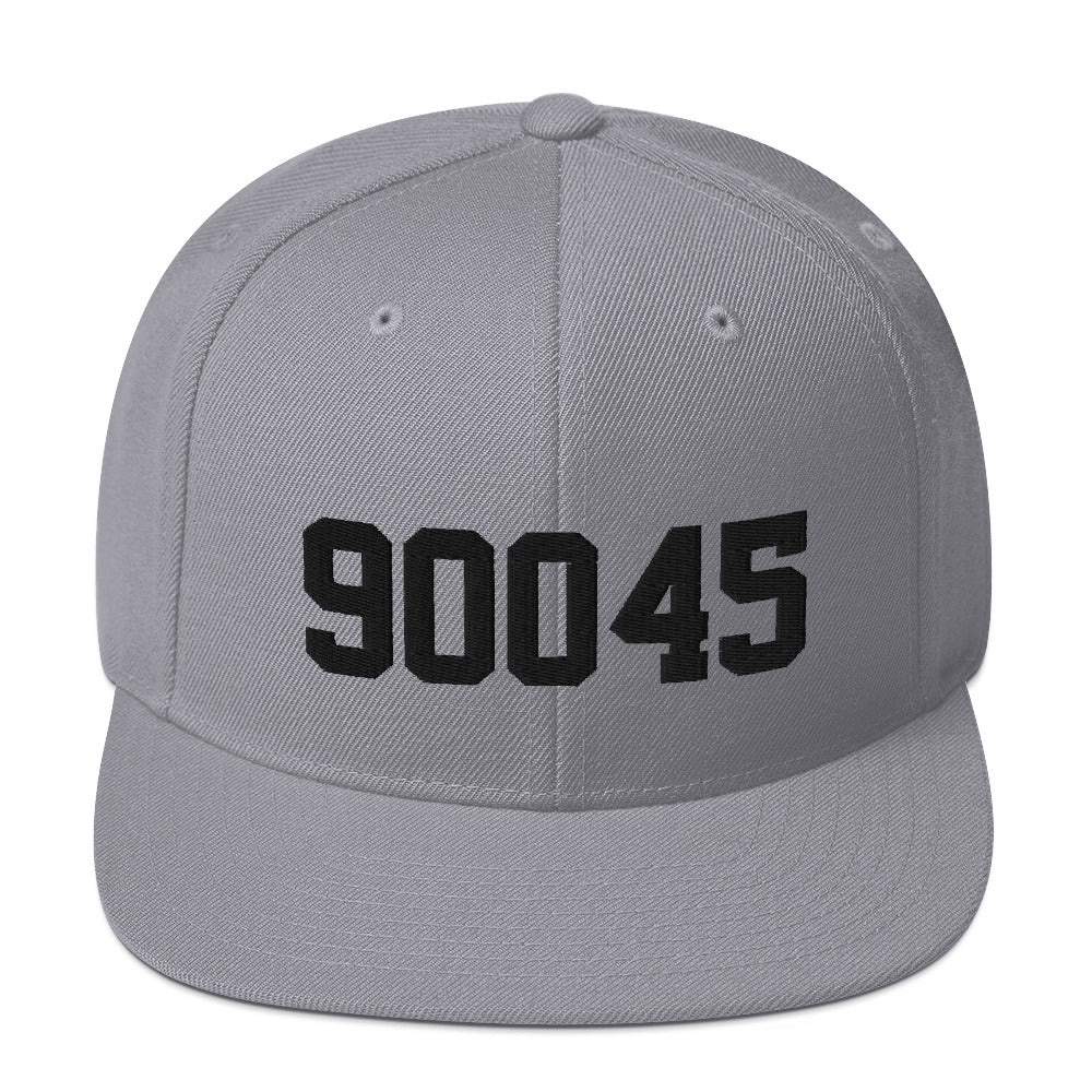 90045 Snapback Hat Black Embroidery