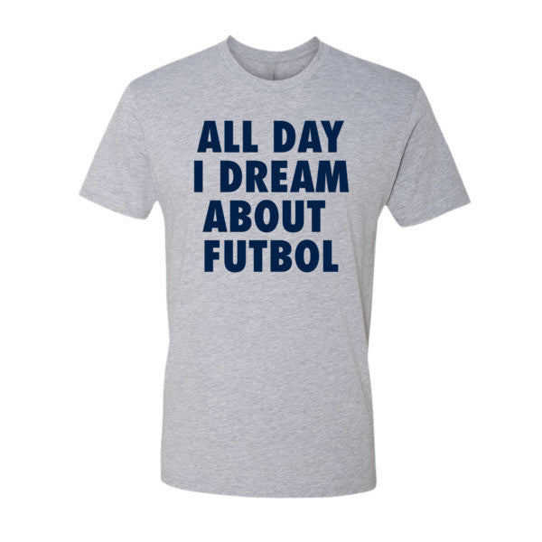 All Day I Dream About Futbol (Navy print) - Short sleeve men's t-shirt