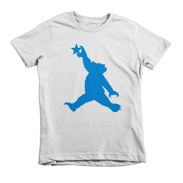 Cali Bear (blue) short sleeve kids t-shirt