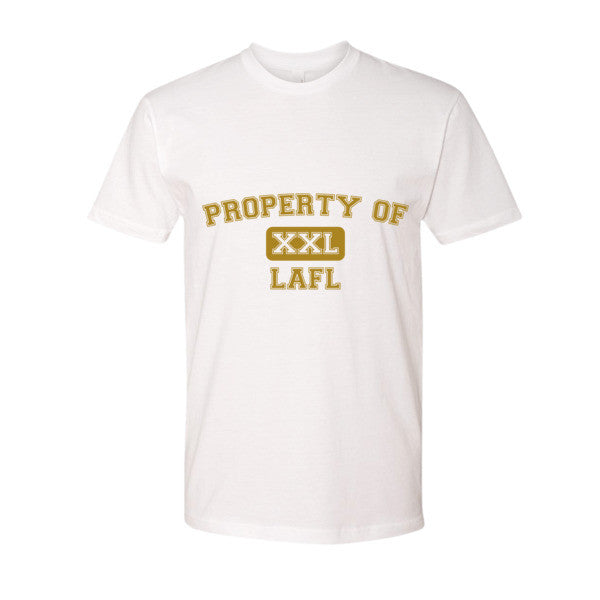 Property of LAFL XXL short sleeve men's t-shirt (Gold print)