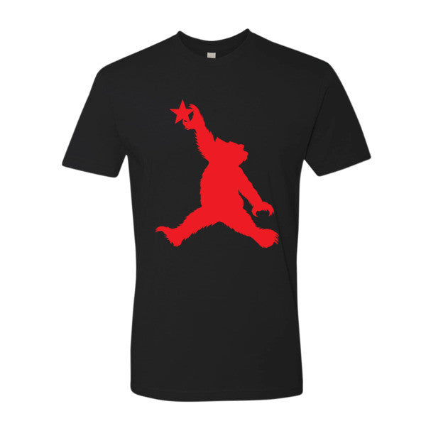 Cali Bear (red) short sleeve men's t-shirt
