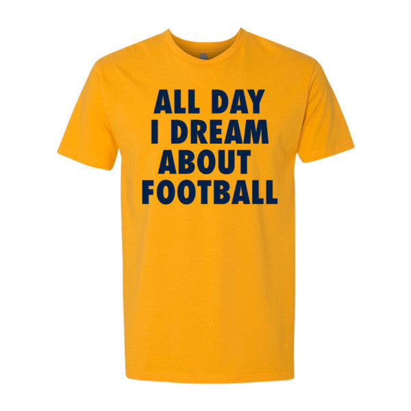 All Day I Dream About Football (Navy print) - Short sleeve men's t-shirt